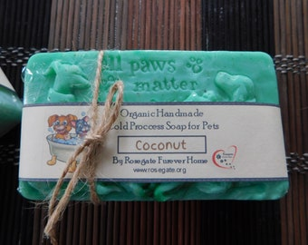 40% OFF - All Paws Matter - Organic Pets Soap with Coconut Milk - PH Balanced for Pets - Green