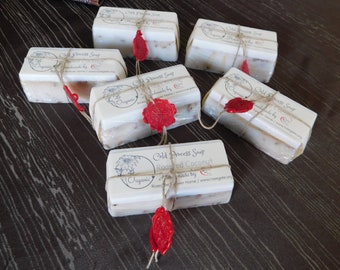 50% OFF - Big Bar - Roasted Coconut - Organic Cold Process Soap - Handmade - Goat Milk, Shea Butter