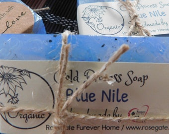 50% OFF - Blue Nile - Organic Cold Process Soap - Handmade - Goat Milk, Shea Butter