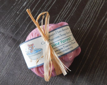 30% OFF Dirty Cat's Soap Pine Forest PH Balanced for Cats Organic Handmade, Cold Process Soap for Cats with Goat Milk, Shea Butter