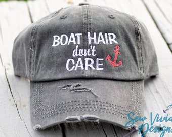 bb8240bf7a73e Boat Hair Don t Care Hat