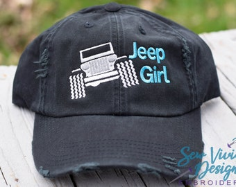 b1ac1e97f2dd9 Jeep Girl Baseball Ponytail or Trucker Hat option
