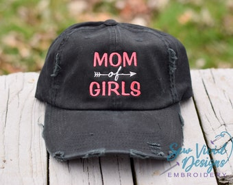 07141e95b57 Mom of Girls Baseball cap