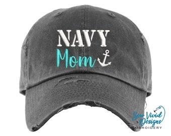 Proud Us Navy Mom Unisex Trucker Cap Mesh Hat Adjustable Print