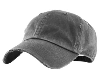 Unisex Split Happens Retro Washed Cap Adjustable Dad Hat for Outdoor Baseball Cap