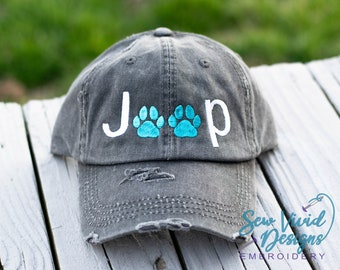 cc8b83dd40b35 Jeep Dog Paw Print Hat