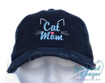d0cd765e592 Cat Mom Baseball Cap