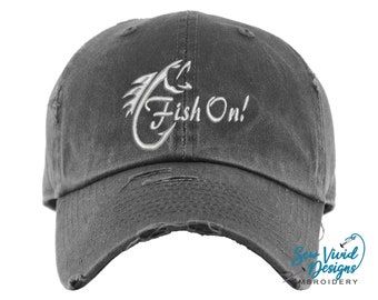 Purple Print House Fishing Gifts for Men WTF Wheres The Fish Embroidered Carp Fishing Beanie Hat Mens Fishing Tackle