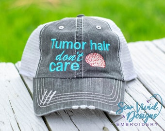 1a8695c27aa3f Tumor Hair Don t Care Hat
