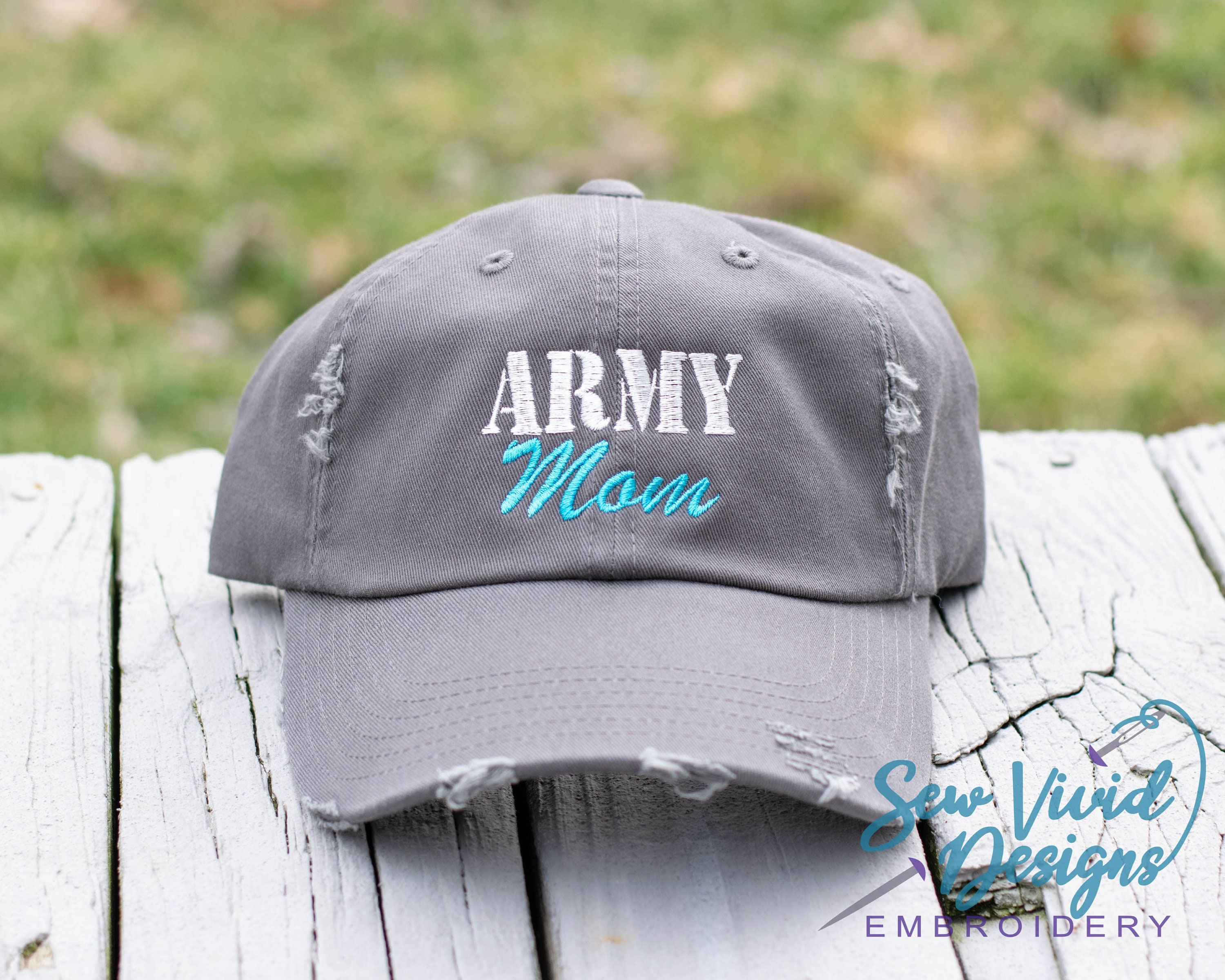 96400401756 Army Mom Distressed Baseball Ponytail or Trucker Cap Custom | Etsy