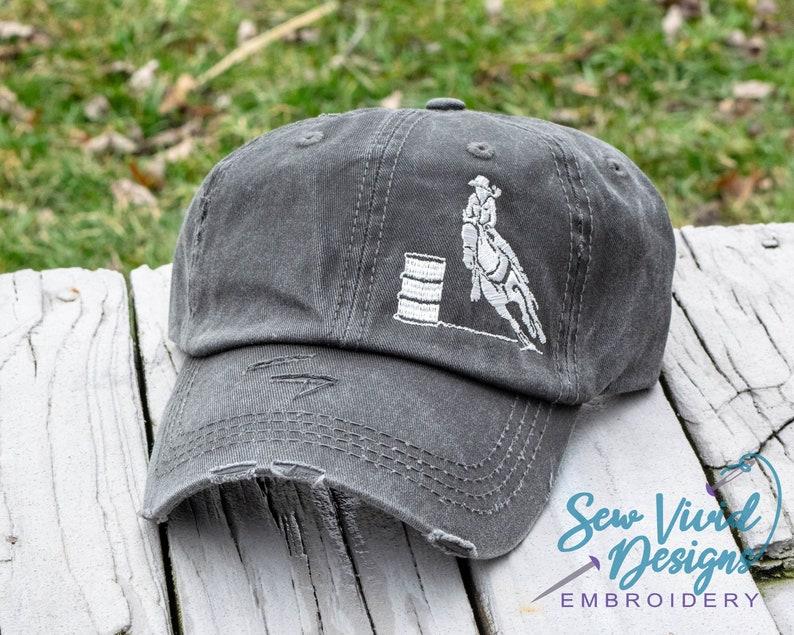 57d3fa4caa8 Barrel racing baseball cap high ponytail cap options