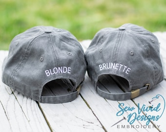 Add Name or Text to Back or Side of Baseball Cap |  Back of Hat Embroidery | Side of Hat Embroidery | Customize Back of Hat