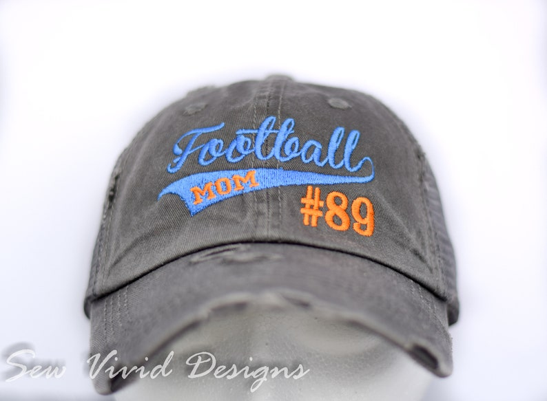 4482487255b Personalized Football mom Hat Football mom hat with jersey image 0 ...