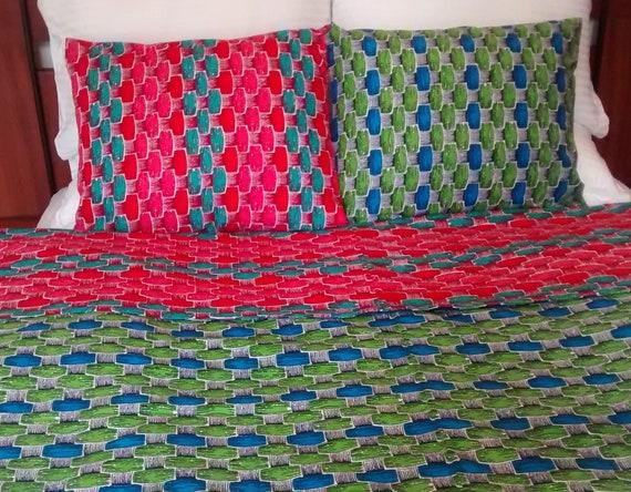 Clip Copripiumino.Duvet Cover Single African Cotton Wax Pigr Copripiumino Etsy