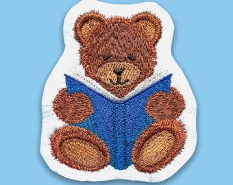 Reading Teddy (embroidery application)