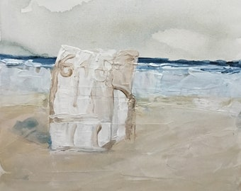 Strandkorb gemalt  Bemalte stühle | Etsy