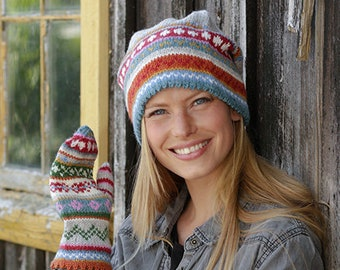 3e937353e Striped wool hat | Etsy