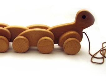 Nachzieh-Ente aus Holz Donald Duck? Holzspielzeug