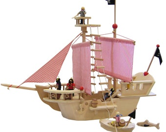 Wooden Pirate Ship including accessories