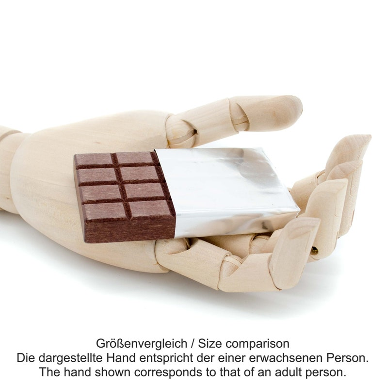 Wooden Play Food chocolate white and brown