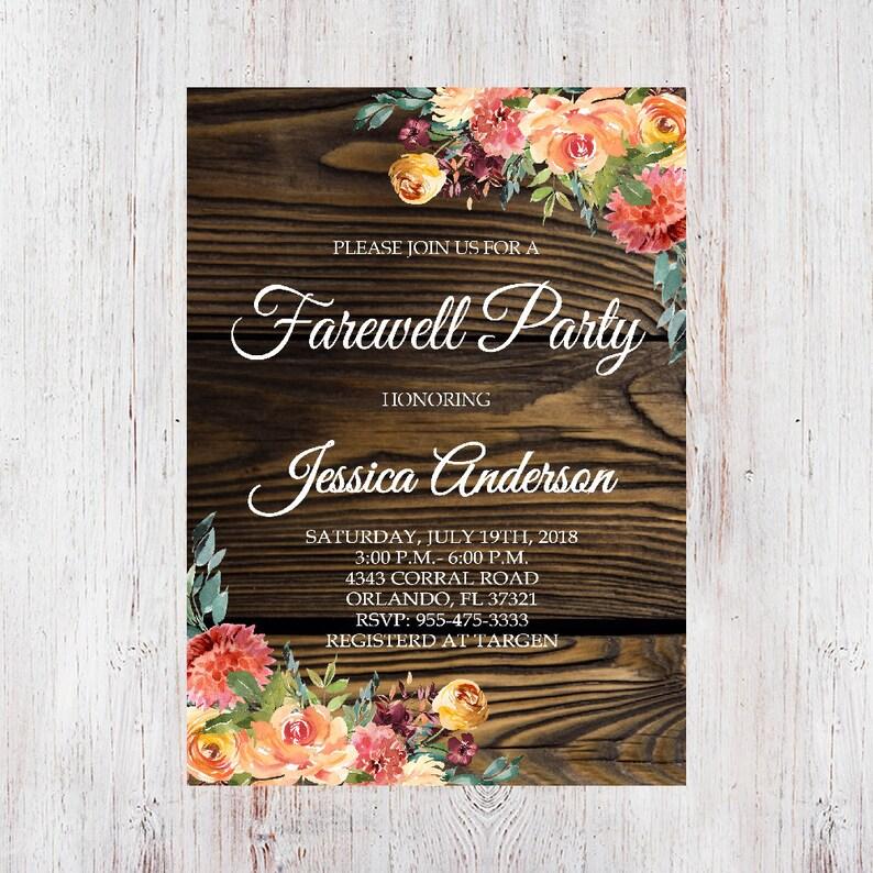 Farewell Party Invitation Farewell Invitation Farewell Party Etsy