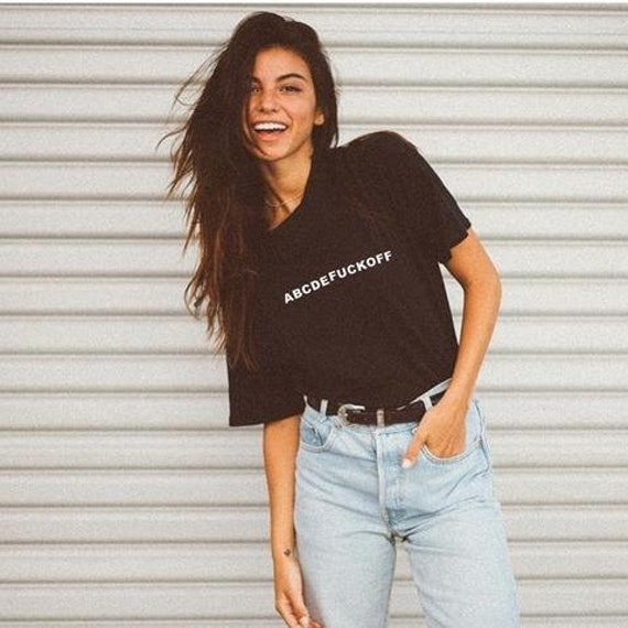 Abcdefuck off shirt Tumblr Graphic Tee Womens fashion Top ...