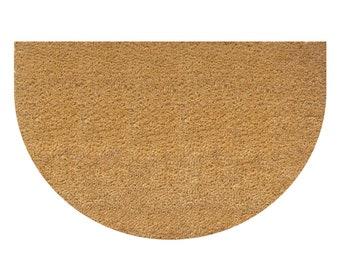 Half round plain coir mat - 45cm x 75cm