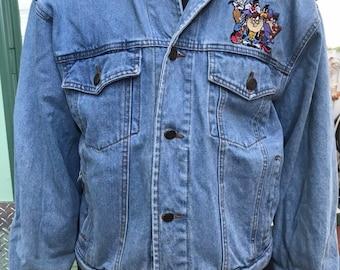 7d058b34f Vintage 90s LOONEY TUNES denim jacket M