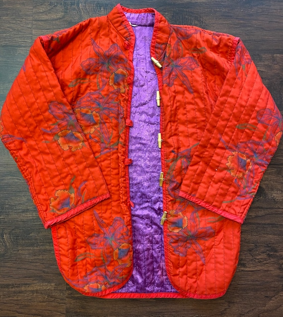 Cozy vintage quilted house coat S/M