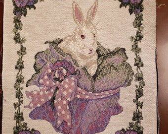 Bunny in A Cabbage Tapestry Fabric