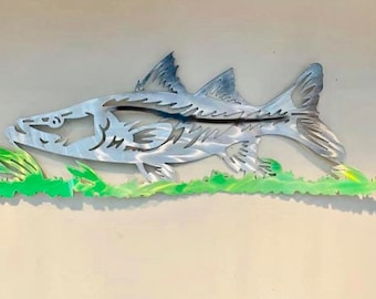 SNOOK XING 12X12 .040 Aluminum wVinyl Graphics Fish Sign