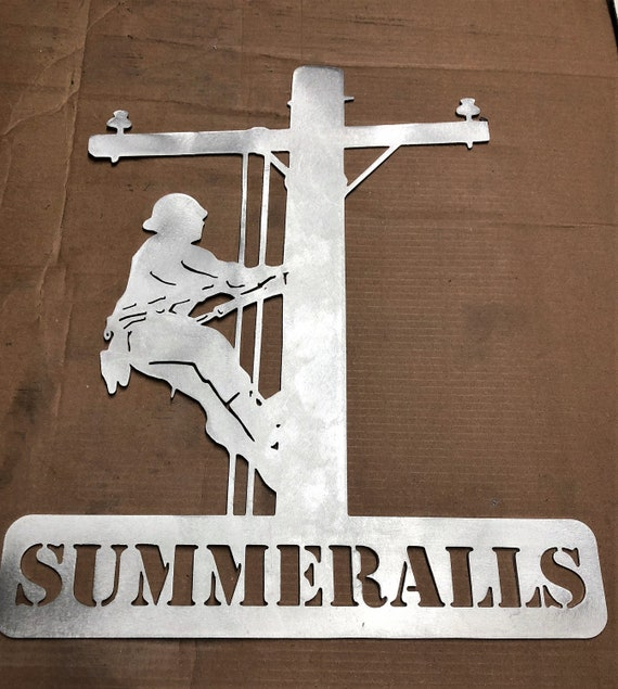 Lineman Sign personalized 24