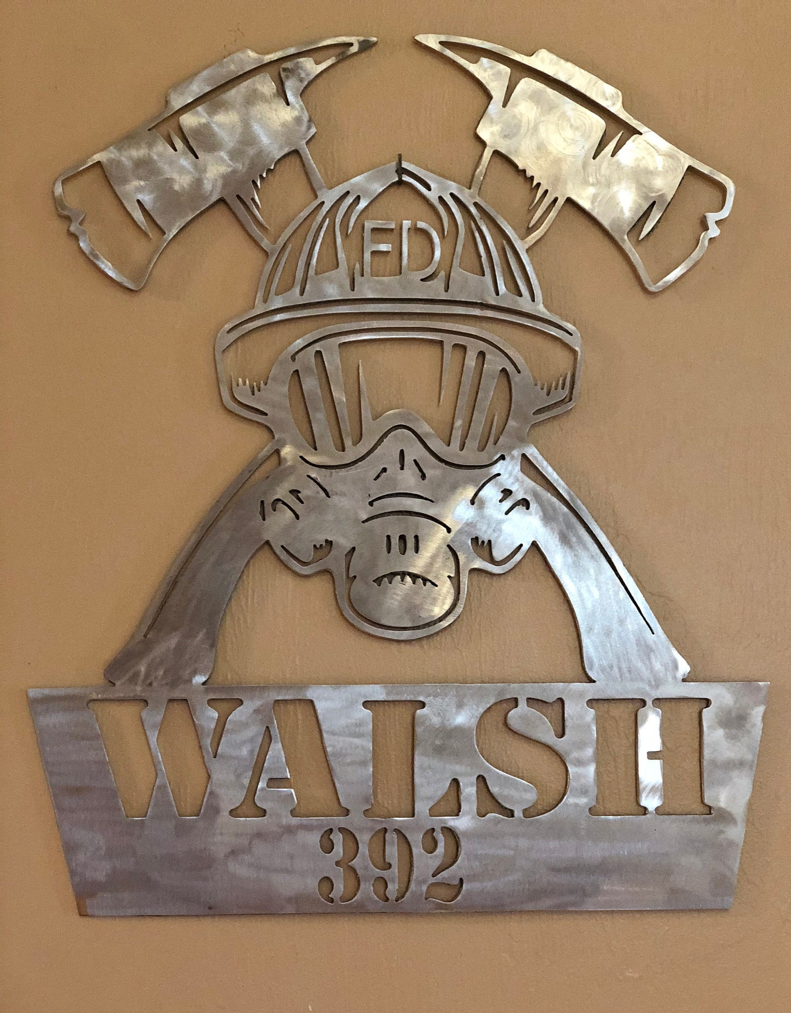 aluminum firefighter sign,