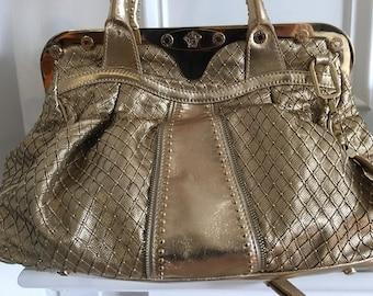 Vintage Versace gold handbag c08921e977172