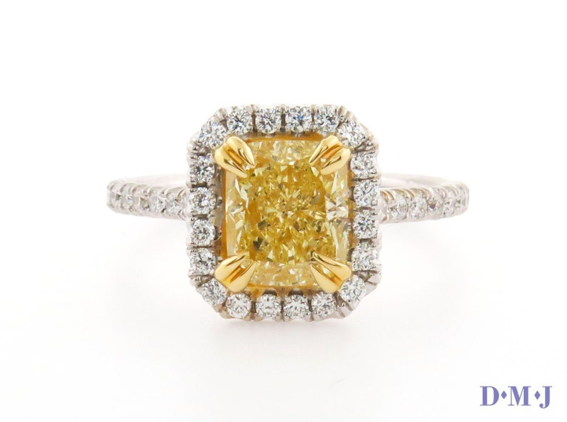 b4d4083585ded Engagement Ring | 18KT White Gold | 2.00 Carat GIA Fancy Yellow Diamond VS2