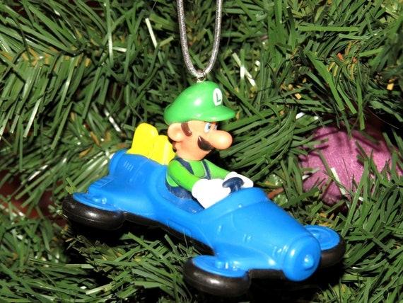 Christmas Mario Kart.Luigi Mario Kart Nintendo Christmas Tree Ornament