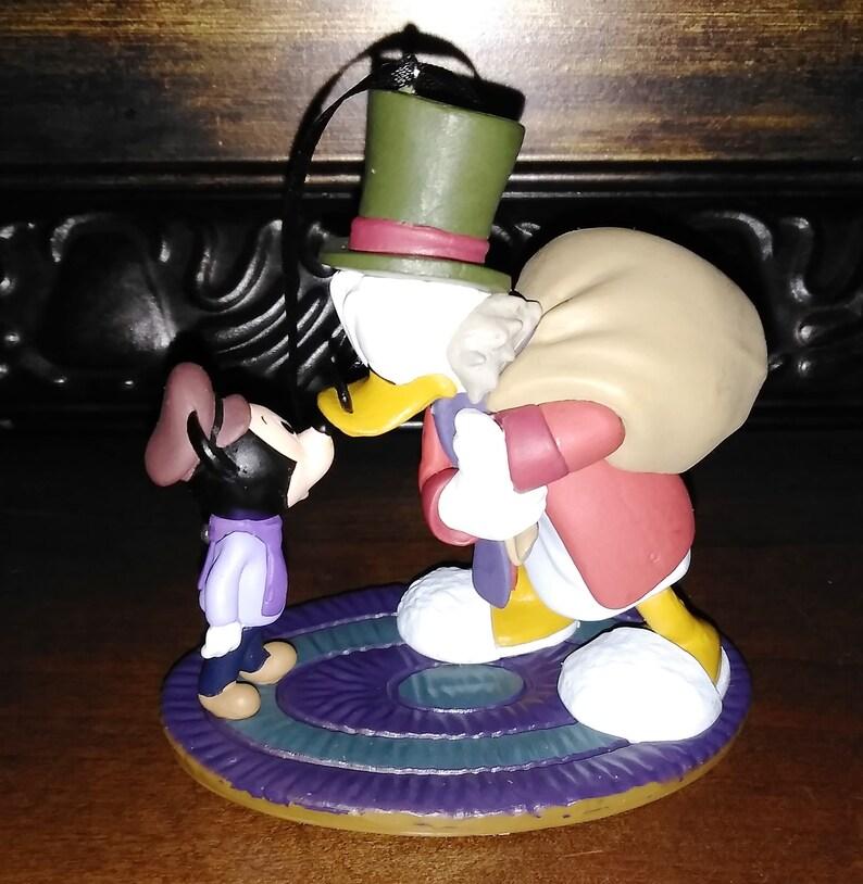 Christmas Carol Scrooge Mcduck.Disney Ebenezer Scrooge Mcduck Tiny Tim Mickey Christmas Carol Ornament