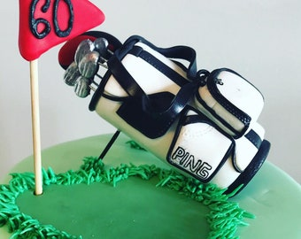 Golf Bag Cake Topper