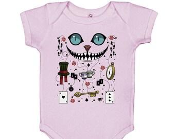 Cheshire Cat Baby Bodysuit Footie