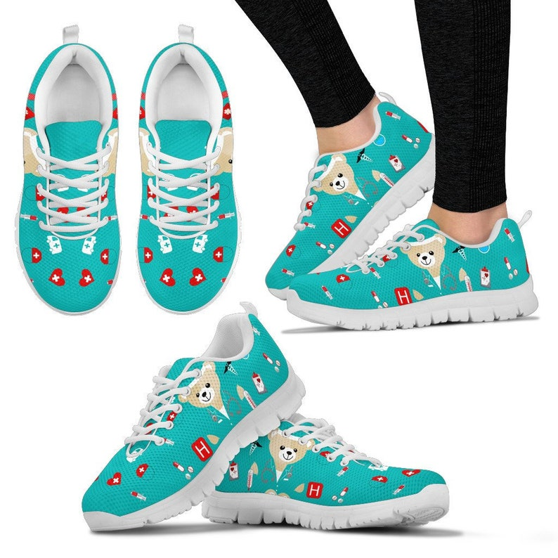 Almost Gone Gift for nurse Blue Bear Nurse Women/'s Sneakers Nurse Sneakers Custom Printed