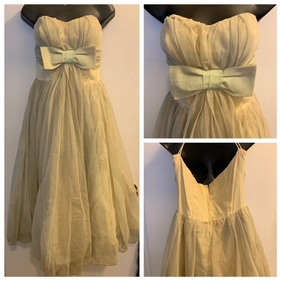 Vintage prom dress - 1950s party dress, early 1960