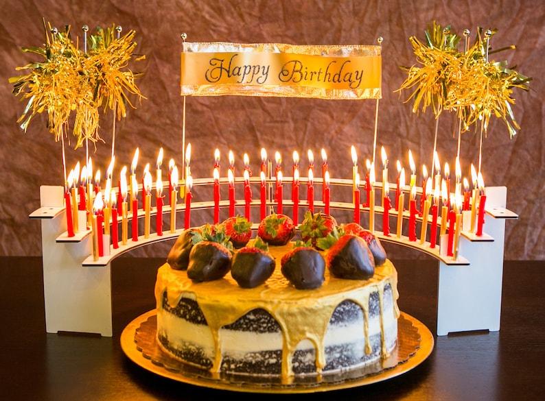 Birthday Party Candle Holder Celebration Stadium Large Size