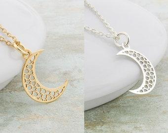 796a6f9d0da4 Collar de luna de oro