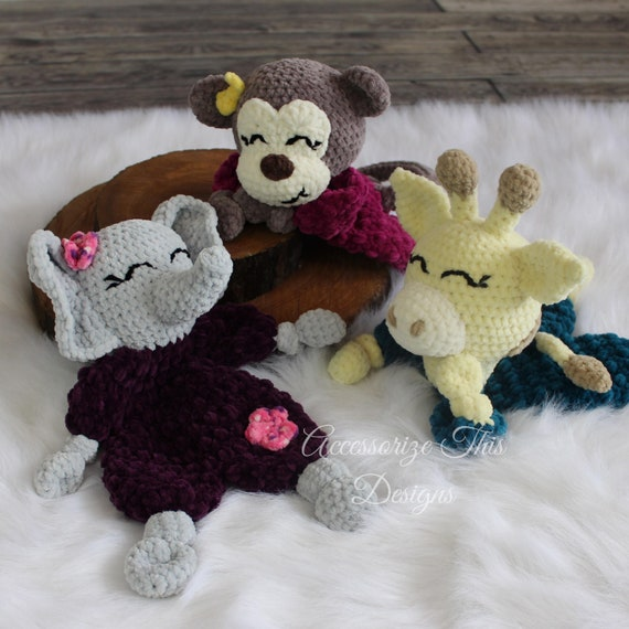 FREE Ragdoll Crochet Patterns - Elephant Pig and Penguin all at ... | 570x570