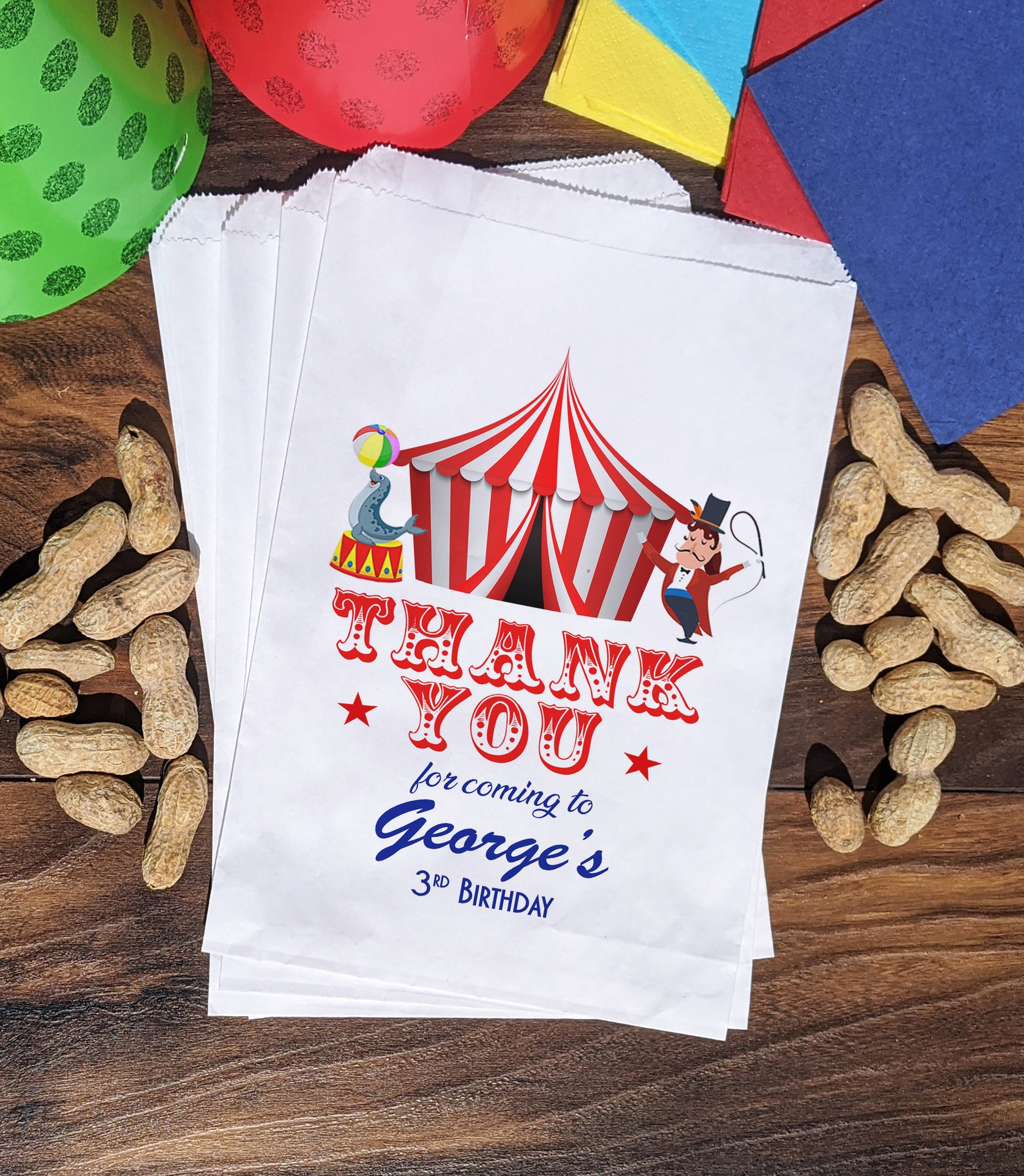 Circus Party Treat Bags