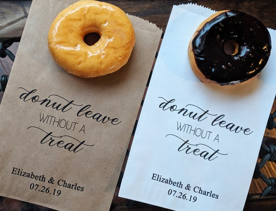 Wedding Favor Bags Treat Bags for Wedding Bags for Donut Wall Wedding Donut Bag Donut Bags for Wedding Donut Mind if I Do