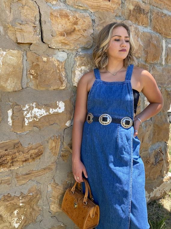 70s LEE Denim Apron Dress - image 10