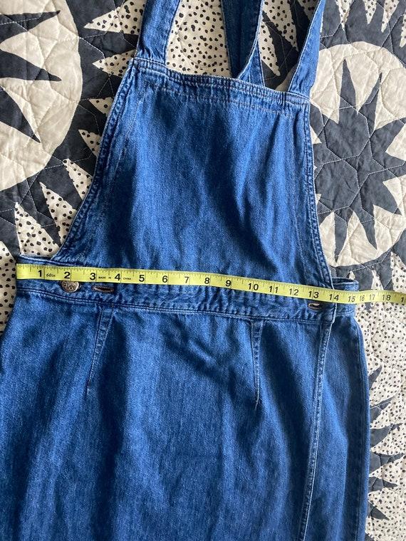 70s LEE Denim Apron Dress - image 7