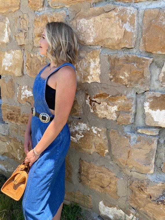70s LEE Denim Apron Dress - image 1