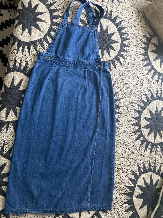 70s LEE Denim Apron Dress - image 2